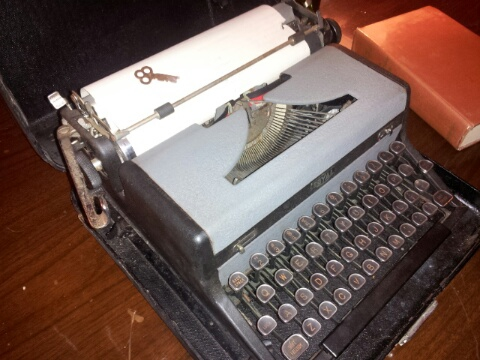 This is a 1925 Royal typewriter in the era that Hemingway wrote
